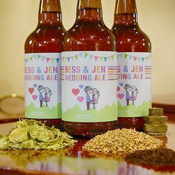 Brew your own beer custom labelled beer for a wedding, also ideal for any event.