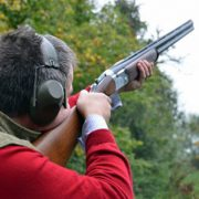 Clay Pigeon Shooting at Chessgrove Shooting School in Longhope as part of an experience day at Hillside Brewery