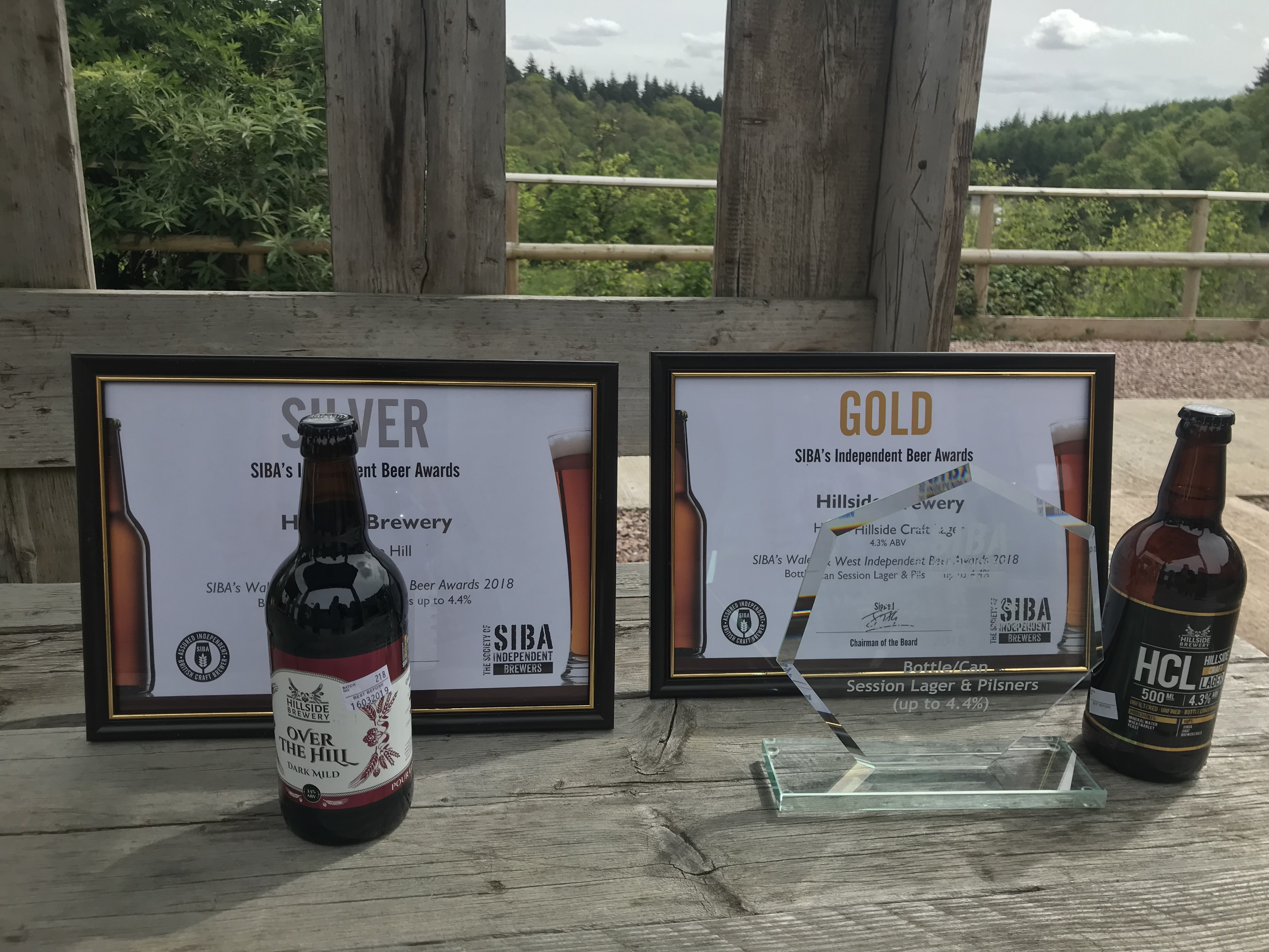 SIBA Gold and Silver Award for our Hillside Craft Lager and Over the Hill Dark Mild