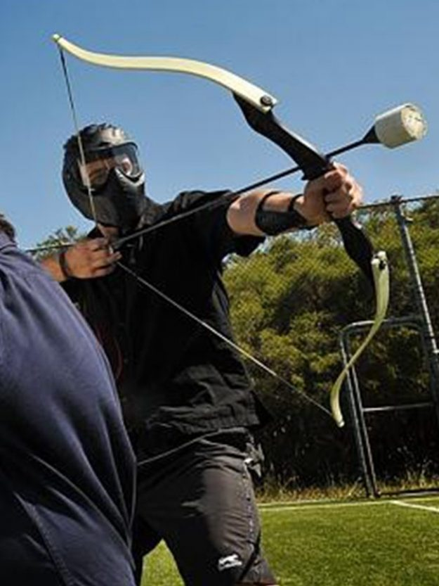 Archery tag and combat archery come together for this great experience. Just like Paintball and lazer tag or lazer combat combined.