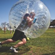 Bubble Football adrenaline filled activity and experience ideal for all ages above 12 years old