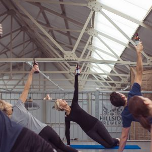 Beer Pilates at Hillside Brewery