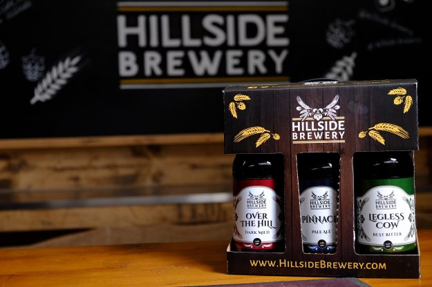 6x Hillside Brewery Beer bottle presentation pack, a great present for any beer lover (front)