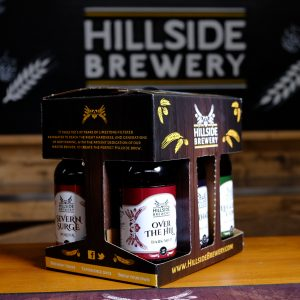 6x Hillside Brewery Beer bottle presentation pack, a great present for any beer lover (centre)