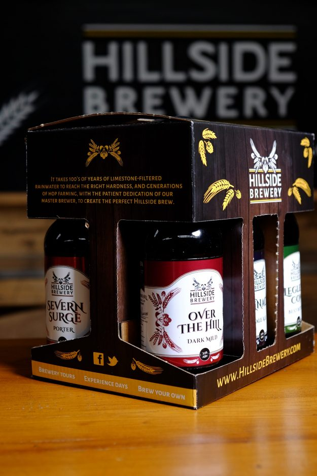 6x Hillside Brewery Beer bottle presentation pack, a great present for any beer lover (side)