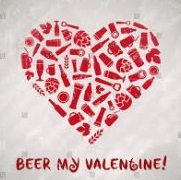 Beer My Valentine, love heart shaped beer bottle.