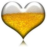 Valentines Day beer heart.