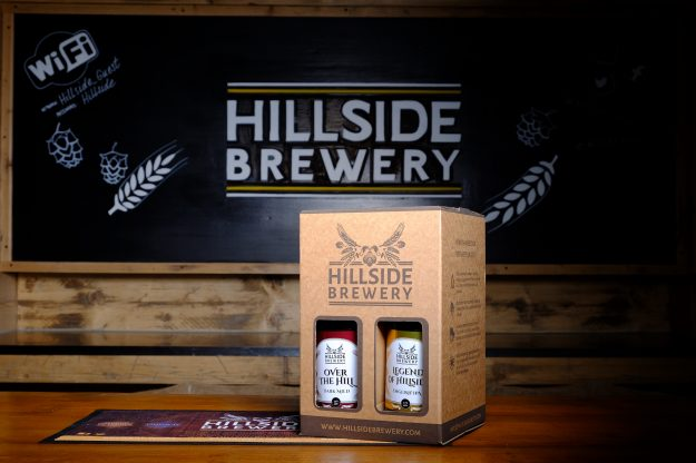 4x Hillside Brewery Beer bottle presentation pack, a great present for any beer lover (centre)