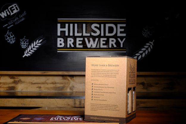 4x Hillside Brewery Beer bottle presentation pack, a great present for any beer lover (side 2)