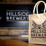 Hessian re-useable and environmentally friendly bags. Branded with Hillside Brewery Logo and beer slogan.