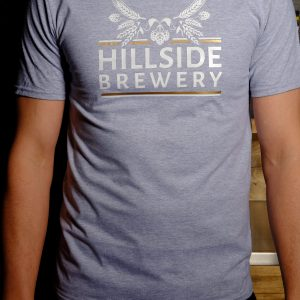 Hillside Brewery Grey T-Shirt (front)