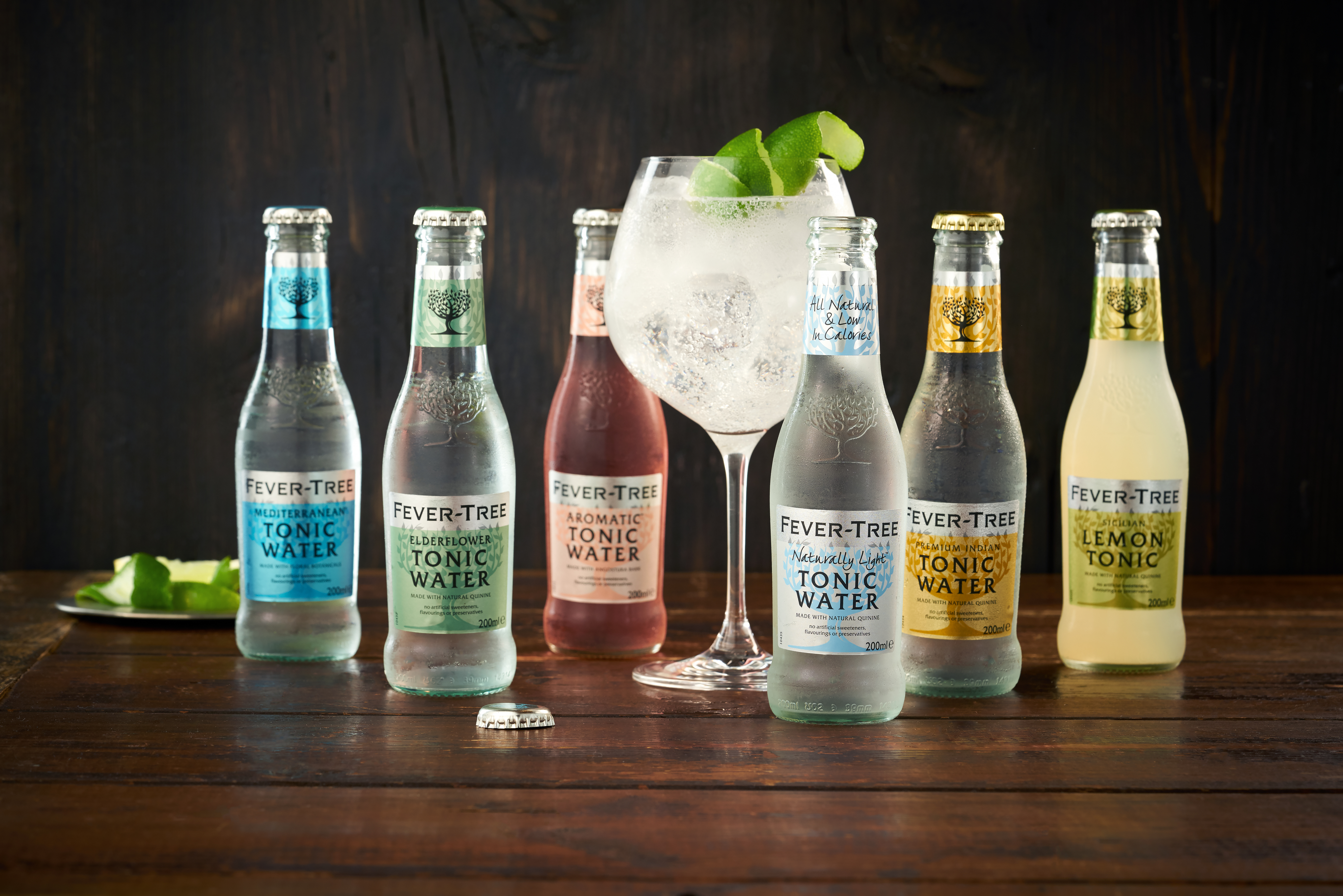 Fever Tree range of tonics.