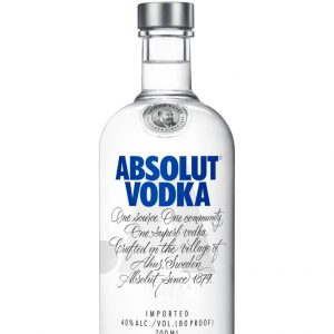 Absolut Vodka Bottle