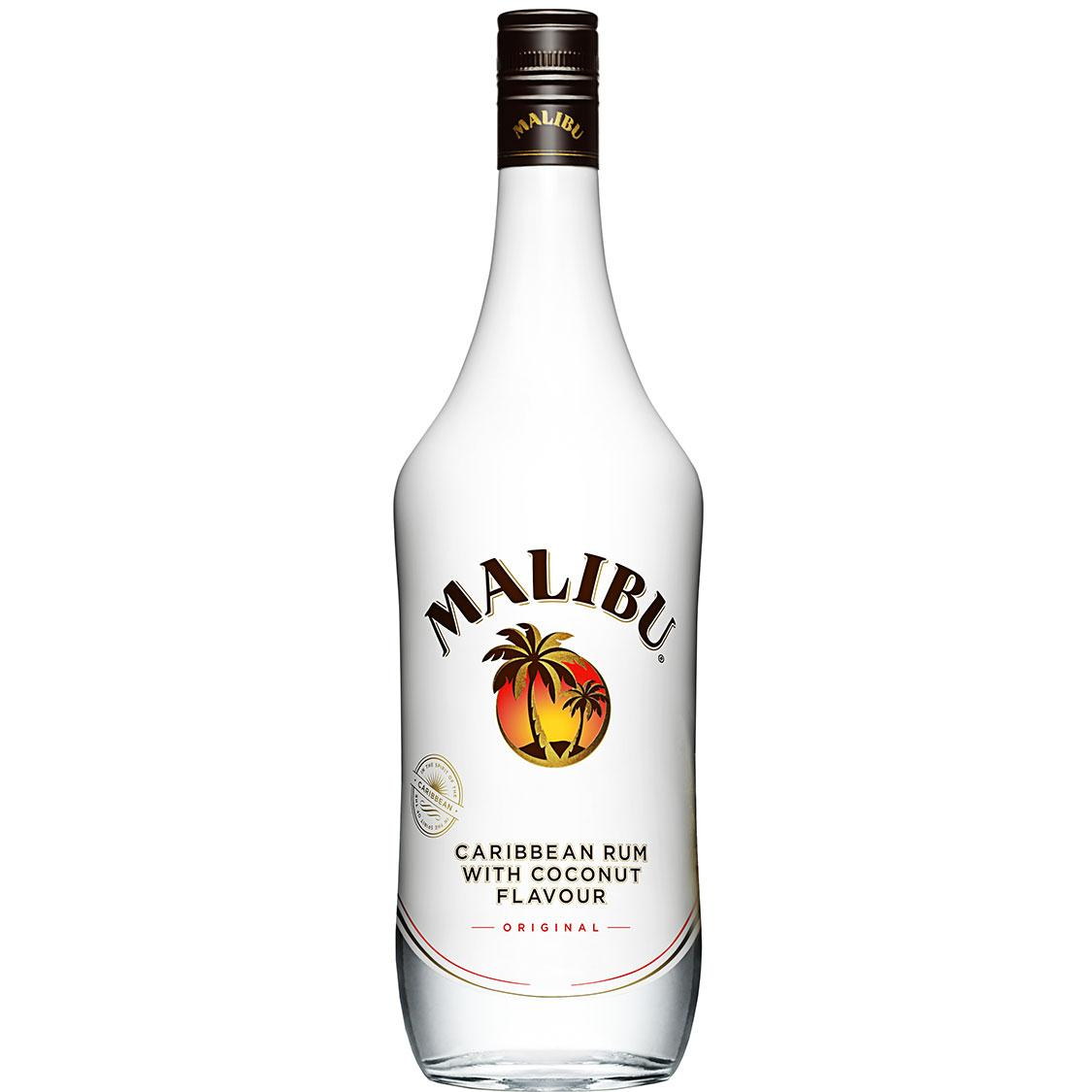 Malibu Coconut Rum Bottle