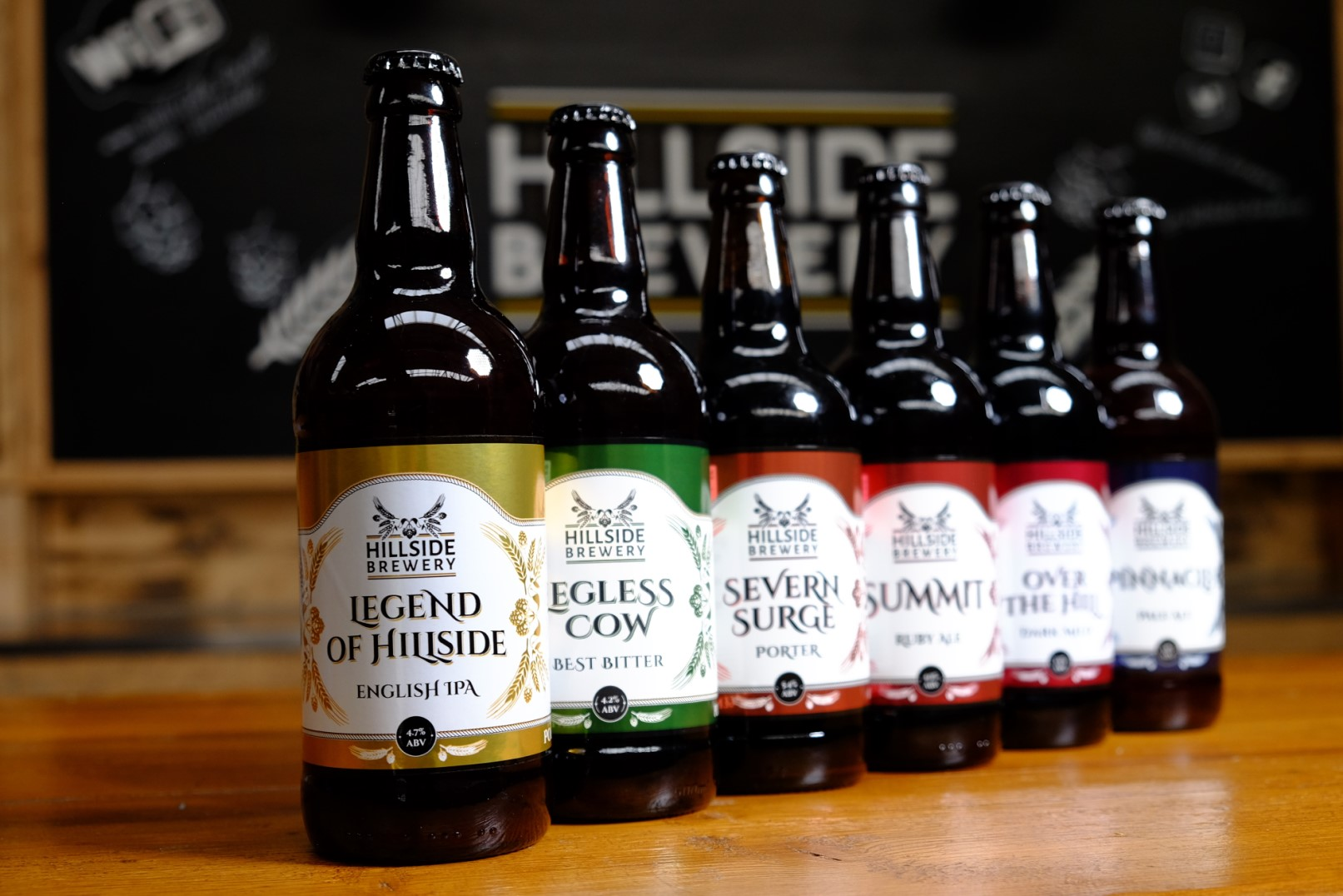 Range of Hillside Brewery Beers
