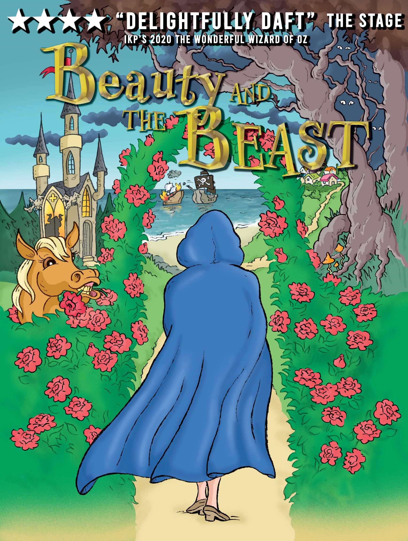 Beauty and the Beast outdoor theatre production.