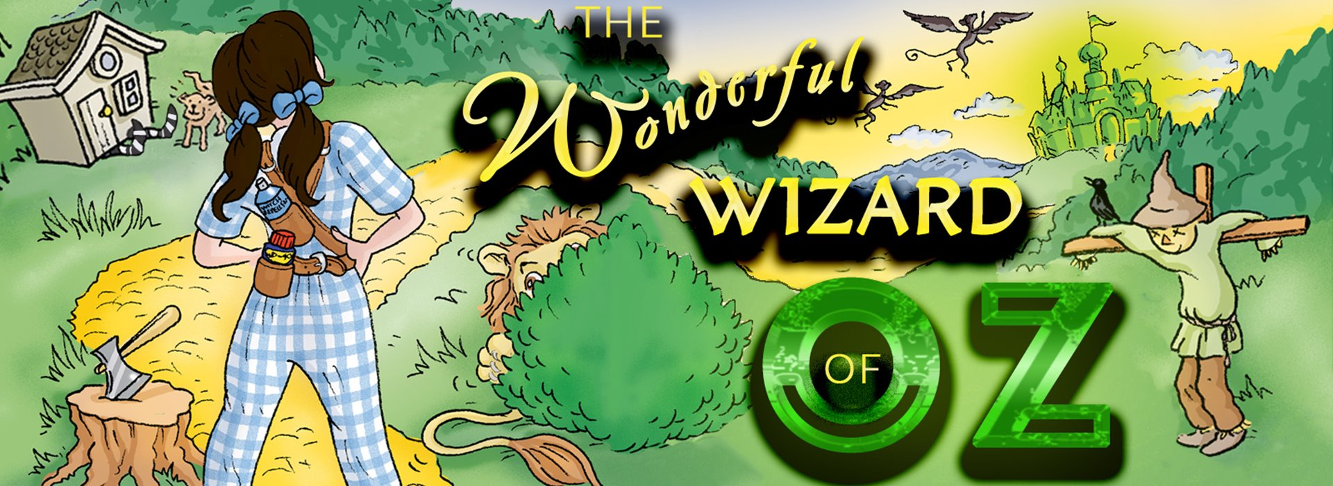 Wonderful wizard of OZ outdoor Theatre Production.